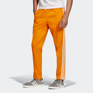 Mens Adidas Bb Beckenbauer Track Pants In Bright Orange - Simons Sportswear