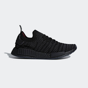 Mens Adidas Nmd R1 Stlt Primeknit Running Shoe In Black