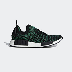 Mens Adidas Nmd R1 Stlt Primeknit Shoes Shoes In Black Green