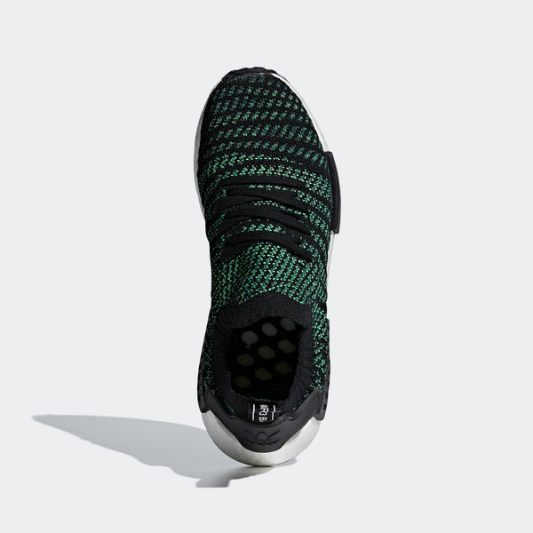 on sale 6d3ae fb284 Mens Adidas Nmd R1 Stlt Primeknit Shoes Shoes In Black Green
