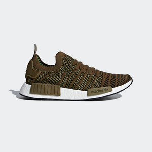 Mens Adidas Nmd R1 Stlt Primeknit Shoes Shoes In Olive