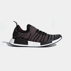 Mens Adidas Nmd_R1 Stlt Primeknit Shoes In Black Grey Pink