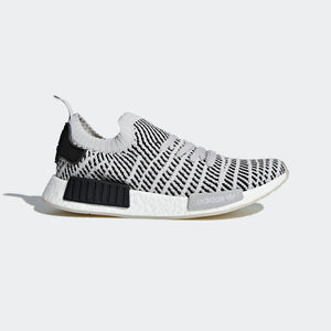 Mens Adidas Nmd_R1 Stlt Primeknit Sneaker In Grey Core Black
