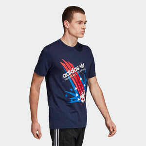 Mens Adidas Originals 1994 Poster Tee Shirt In Night Indigo