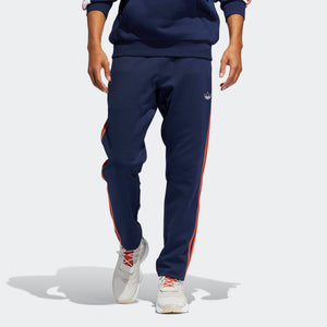 Mens Adidas Originals 3-Stripes Pants Track Pants In Collegiate Navy Raw Amber