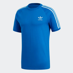 Mens Adidas Originals 3-Stripes Tee Shirt In Bluebird
