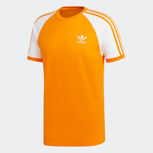 Mens Adidas Originals 3-Stripes Tee Shirt In Bright Orange