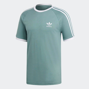 Mens Adidas Originals 3-Stripes Tee Shirt In Vapour Steel Green