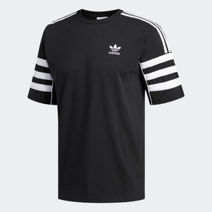Mens Adidas Originals Authentics Tee Shirt In Black White - Simons Sportswear