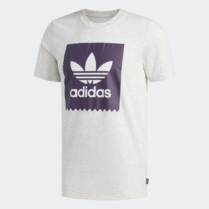 Mens Adidas Originals Bb Solid Tee Shirt In Pale Melange Trace Purple - Simons Sportswear