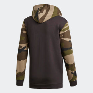 Mens Adidas Originals Camo Hoodie Sweatshirt In Utility Black Camo