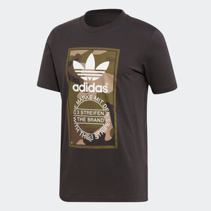 Mens Adidas Originals Camo Tounge Label Shirt In Utility Black Camo