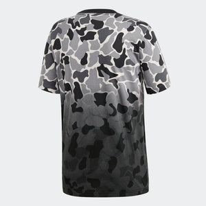 Mens Adidas Originals Camouflage Dip-Dyed Camo Tee Shirt In Grey Camo