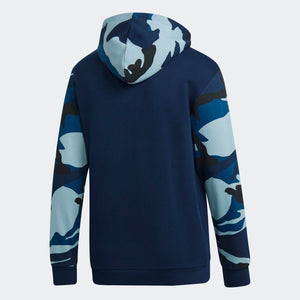 Mens Adidas Originals Camouflage Hoodie Hoodie In Collegiate Navy