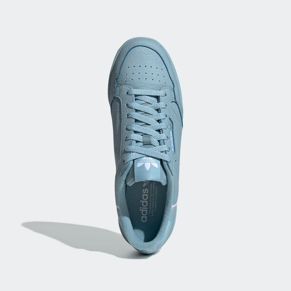 33657a901357 Mens Adidas Originals Continental 80 Sneaker In Ash Grey Silver Metall -  Simons Sportswear