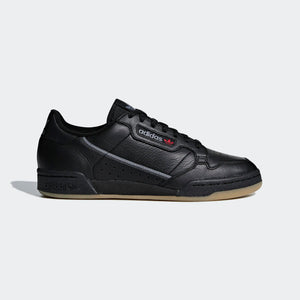 Mens Adidas Originals Continental 80 Shoe In Core Black Gum