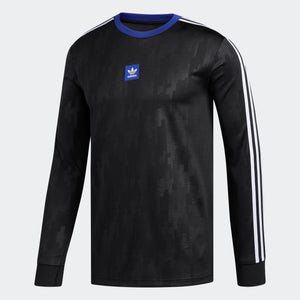 Mens Adidas Originals Dodson Jersey In Black Active Blue White - Simons Sportswear