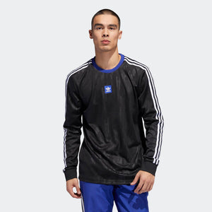 Mens Adidas Originals Dodson Jersey In Black Active Blue White