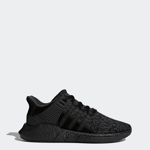 Mens Adidas Originals Eqt Support 91-17 Sneaker In All Black ... 1374e8112