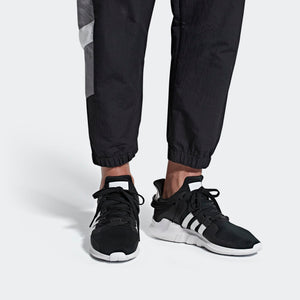 Mens Adidas Originals Eqt Support Adv Shoes In Black White