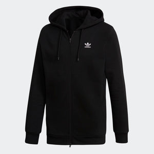 Mens Adidas Originals Fleece Trefoil Hoodie Sweatshirt In Black White - Simons Sportswear