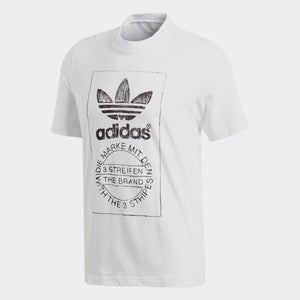 Mens Adidas Originals Hand Drawn Tee Shirt In White