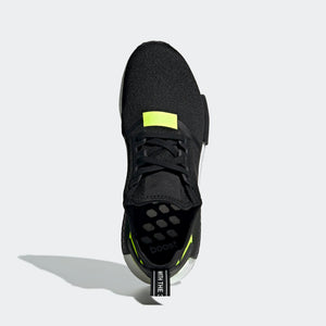 Mens Adidas Originals Nmd R1 Runner Shoe In Core Black Volt - Simons Sportswear