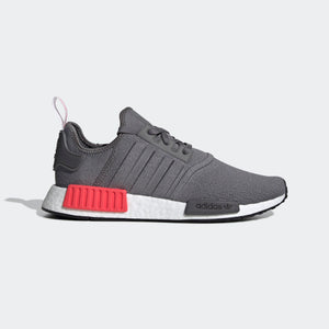 Mens Adidas Originals Nmd R1 Runner Shoe In Grey Shock Red - Simons Sportswear