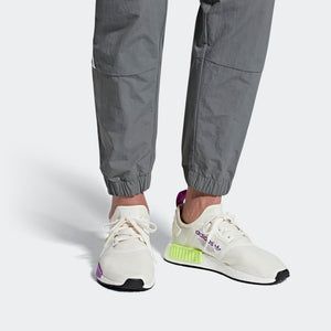 Mens Adidas Originals Nmd_R1 Shoes In Chalk White Semi Solar Yellow