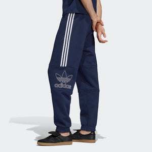Mens Adidas Originals Outline Sweats Track Pants In Collegiate Navy