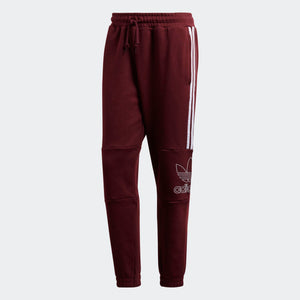 Mens Adidas Originals Outline Sweats Track Pants In Maroon - Simons Sportswear