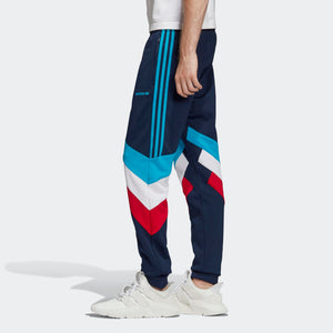 Mens Adidas Originals Palmeston Track Pants In Collegiate Navy Bold Aqua