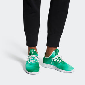 Mens Adidas Originals Pharrell Williams Tennis Hu Shoe In Green - Simons Sportswear