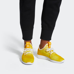 Mens Adidas Originals Pharrell Williams Tennis Hu Shoe In Yellow Cloud - Simons Sportswear