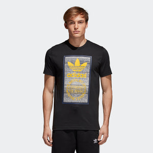 Mens Adidas Originals Polo Traction In Action Tongue Label Shirt In Black