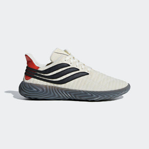 Mens Adidas Originals Sobakov Soccer Shoe In Off White Core Black Raw Amber