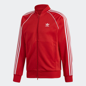 Mens Adidas Originals Sst Track Jacket In Power Red