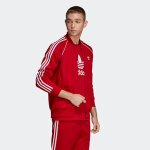 Mens Adidas Originals Sst Track Jacket In Power Red - Simons Sportswear