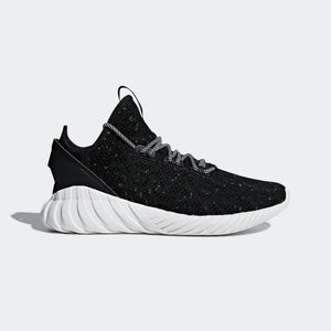 Mens Adidas Originals Tubular Doom Sock Primeknit Sneaker In Black White - Simons Sportswear