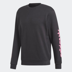 Mens Adidas Originals Vaporware Graphic Crewneck Sweatshirt In Black