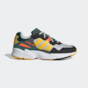 Mens Adidas Originals Yung-96 Sneaker In Grey Bold Gold Solar Red - Simons Sportswear
