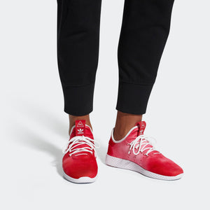 Mens Adidas Pharrell Williams Tennis Hu Shoe In Red - Simons Sportswear