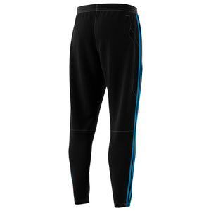 Mens Adidas Soccer Tiro 19 Training Track Pants In Black Shock Aqua - Simons Sportswear