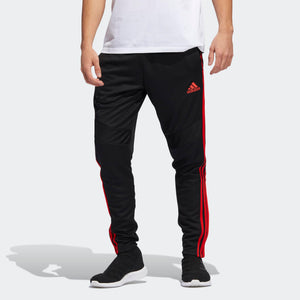 Mens Adidas Soccer Tiro 19 Training Pants Track Pants In Black Red - Simons Sportswear