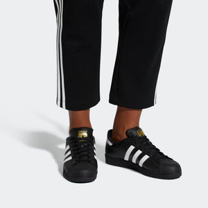 Mens Adidas Superstar Foundation Shell Toe Classic Sneaker In Black White - Simons Sportswear