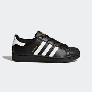 Preschool Kids Adidas Superstar Foundation Shell Toe Classic Sneaker In Black White - Simons Sportswear