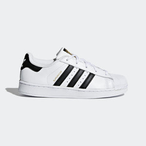 Preschool Kids Adidas Superstar Foundation Shell Toe Classic Sneaker In White Black - Simons Sportswear