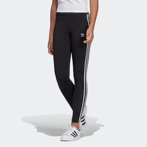Womens Adidas 3-Stripes Tights Leggings In Black White