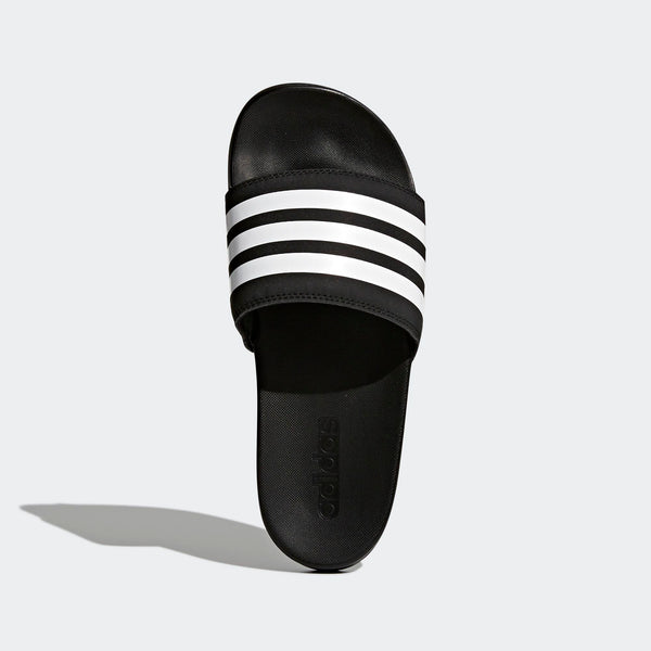 new style 68c3d 1e6f2 Womens Adidas Adilette Cloudfoam Plus Stripes Slides Sandals In Black -  Simons Sportswear