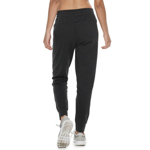 Womens Adidas Athletics Oversized Logo Cuffed Sweatpants In Black - Simons Sportswear